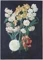 A Bunch Of Flowers, Including White And Yellow Narcissi - (after) Prevost