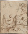 Angels Among Clouds Making Music - (after) Giovanni Battista Tiepolo