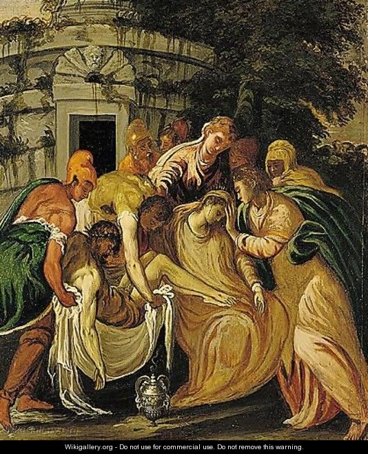 The Entombment Of Christ - (after) Andrea Meldolla, Il Schiavone
