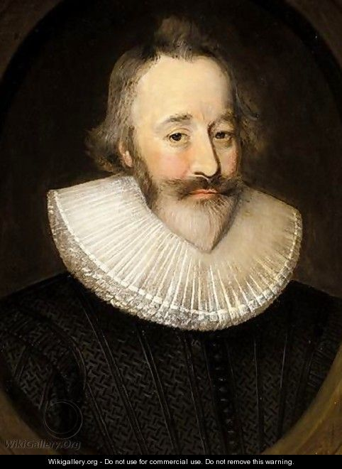 Portrait Of Sir Henry Spiller Of Laleham - (after) Johnson, Cornelius I