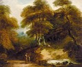 Rustic Landscape With Figures By A Stream - Thomas Barker of Bath