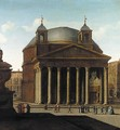 Rome A View Of The Pantheon - (after) Viviano Codazzi