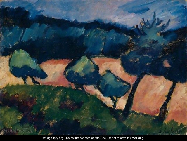 Baume Und Dunen In Prerow (Trees And Dunes In Prerow) - Alexei Jawlensky