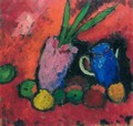 Stilleben Mit Hyazinthe, Blauem Krug Und Apfeln (Still-Life With Hyacinth, Blue Jug And Apples) - Alexei Jawlensky