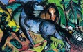 Zwei Grosse Pferde In Landschaft (Two Large Horses In A Landscape) - Franz Marc
