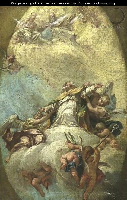 Apotheosis Of A Bishop - (after) Francesco Fontebasso