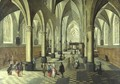 Interior Of A Cathedral With Elegant Figures In The Foreground - Peeter, the Younger Neeffs