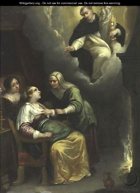 The Apparition Of Saint Dominic - Flemish School