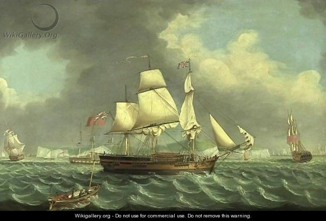 Shipping Off The Channel Coast - English School