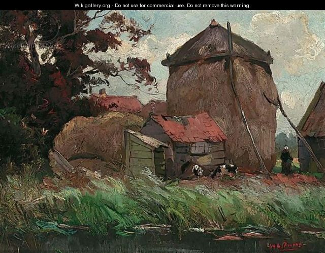 A Landscape With A Hayshed - Willem de Zwart