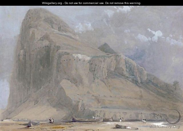 View Of Gibraltar From The Neutral Ground - David Roberts