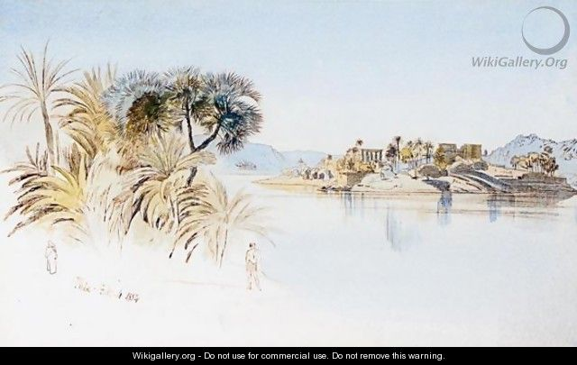 View Of Philae - Edward Lear