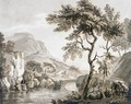 A Bridge Over A River In A Mountainous Landscape - Paul Sandby