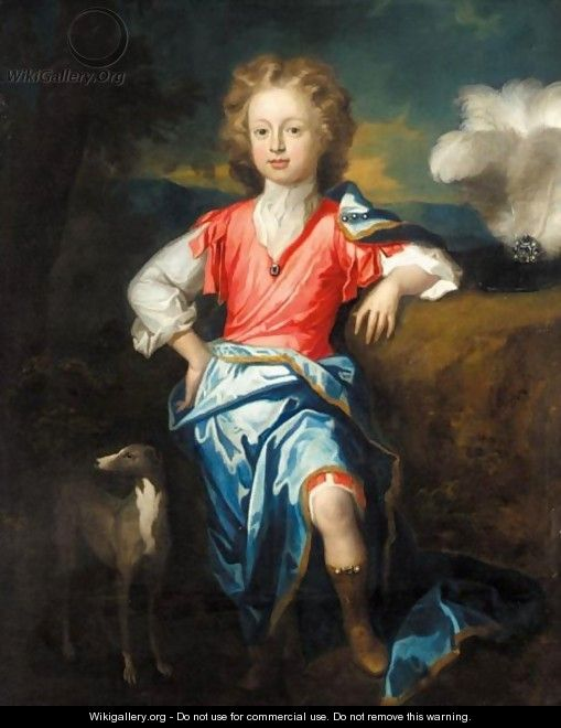 Portrait Of A Boy, Possibly James Stuart, The Old Pretender - William Sonmans