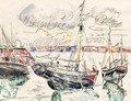 Barques Au Port - Paul Signac