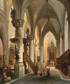 Figures In A Church Interior - Jules Victor Genisson
