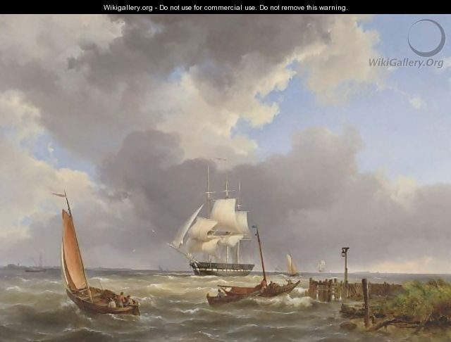 Shipping Off The Coast - Hermanus Koekkoek