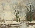 The Vordense Beek In Winter - Arnold Marc Gorter
