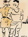 Football Fans - Francis Campbell Boileau Cadell