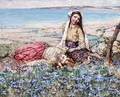 Picking Violets, Brighouse Bay - Edward Atkinson Hornel