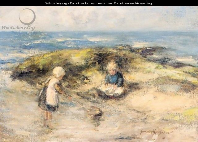 Young Children Crabbing - Robert Gemmell Hutchison