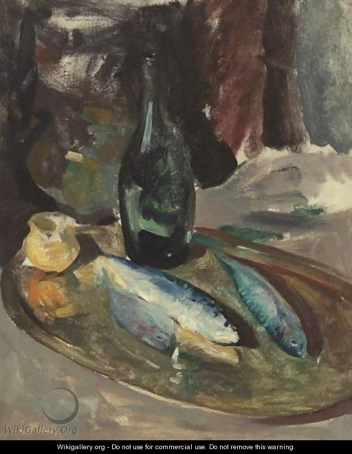 Still Life With Fish And Bottle - Charles Webster Hawthorne
