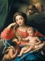 The Madonna And Child With The Infant Saint John The Baptist And Angels - Roman School