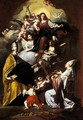 The Madonna And Child With Saints Gregory The Great And Gaudiosus And Angels - Francesco Solimena
