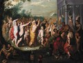 A Bacchanal Scene In Front Of A Temple - (after) Hendrik Van Balen, I
