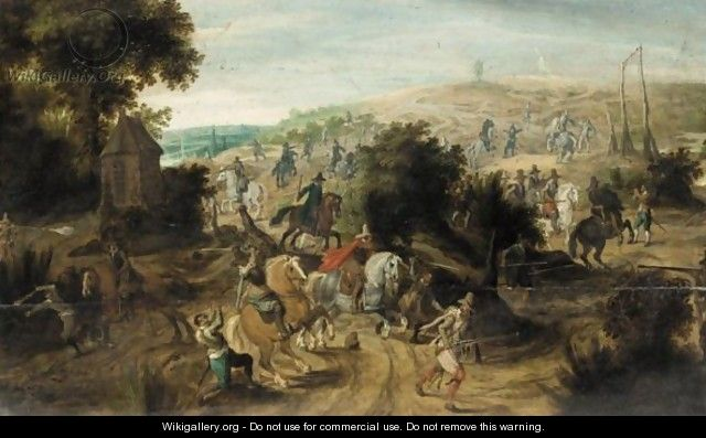 Battle Scene With Cavalry Routing An Army - (after) Pieter Snayers