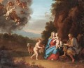 Holy Family In A Landscape With Putti - Daniel Vertangen