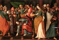 Christ And The Woman Taken In Adultery - Flemish School