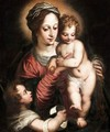 Madonna And Child With Saint John The Baptist - (after) Hans I Rottenhammer