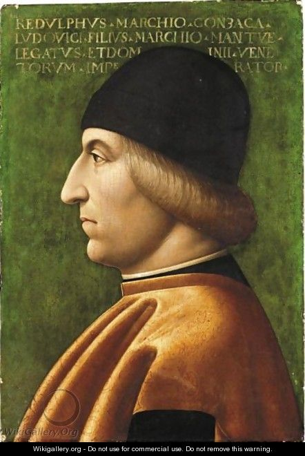 Portrait Of A Man In Profile, Said To Be Rodolfo Gonzaga (1451-1495) - (after) Baldassare D