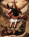 Saint Michael Vanquishing The Devil - Spanish Colonial School