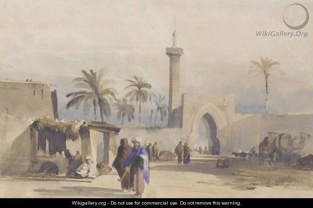 Figures By A Gateway, Cairo - William James Muller