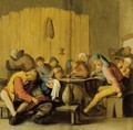 Peasants Drinking And Making Merry In An Inn - Haarlem School