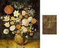 A Still Life With Roses, Tulips, Irises, A Daffodil, A Poppy Anemone, Marigolds, Red Turban Cup Lilies, Borage, Violets, Forget-Me-Nots And Other Flowers, All In A Stone Vase On A Wooden Ledge - (after) Jan The Elder Brueghel