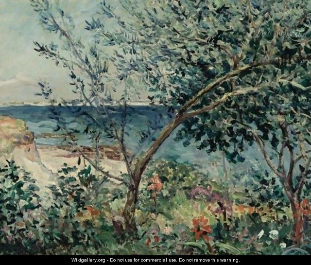 jardin au bord de la mer kerhostin morbihan maxime maufra the largest. Black Bedroom Furniture Sets. Home Design Ideas