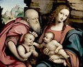 The Holy Family With The Infant Saint John - Gianpietrino Ricci or Pedrini