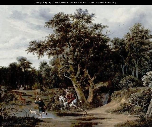 Landscape With Hunters - Haarlem School