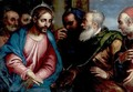 Christ And The Money Changers - Venetian School