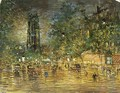 The Tour St. Jacques, Paris, By Night - Konstantin Alexeievitch Korovin