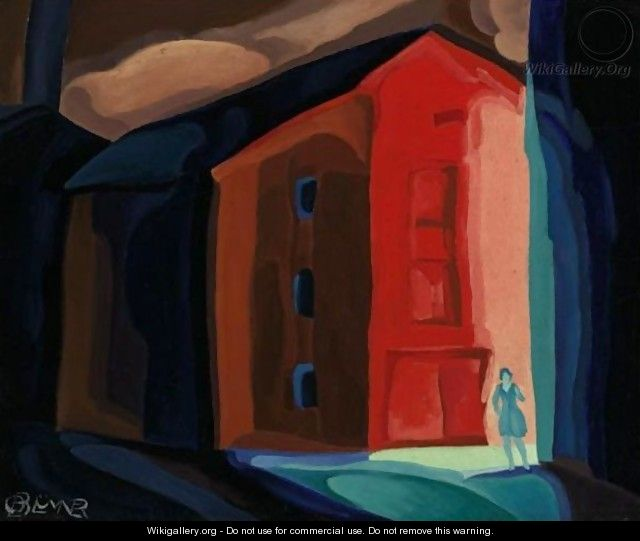 A Moment In Another Town - Oscar Bluemner