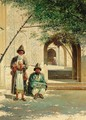 Travellers Outside A Mosque Near Samarkand - Richard Karlovich Zommer