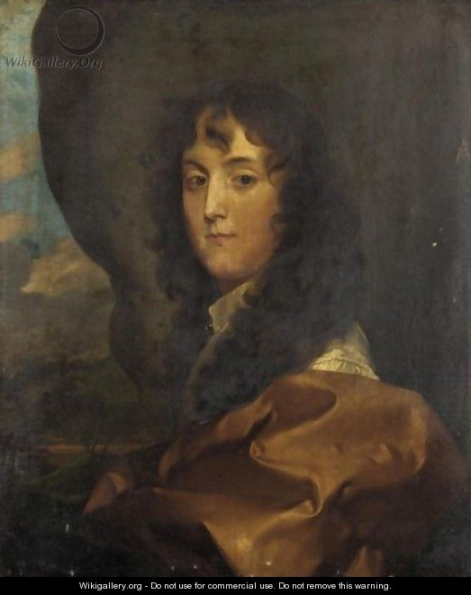Portrait Of Sir Thomas Leigh (Born 1639) - Gerard Soest