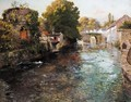 Fra Elven Elle I Quimperle (By The River Elle In The Town Of Quimperle) - Fritz Thaulow