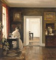 Interior Med En Kvinde Der Laser (Interior With A Woman Reading) - Carl Vilhelm Holsoe