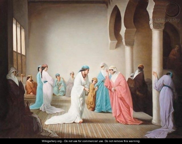 The Arrival In The Harem At Constantinople - (after) Henriette, Hon. R.I. Browne