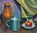 Still Life With An Apple And Jug - Karoly Patko